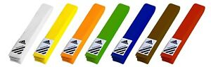 adidas Karate/Taekwondo/Judo/Aikido Rank Belts 0 to 7 Sizes