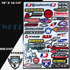 MOTOCROSS MOTORCYCLE DIRT BIKE ATV HELMET SPONSOR LOGO RACE STICKER DECAL #90GRB