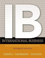 International Business 15th Int'l Edition