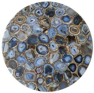 "36"" Marble Natural Agate Table Top Pietradura Handmade Work home decor"