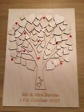 Wooden wedding guestbook personalised tree, gift, anniversay, birthday