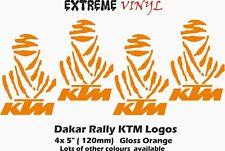 "Dakar Rally KTM logo Stickers 4x5"" Orange Vinyl MX 790 990 1190 Adventure S"