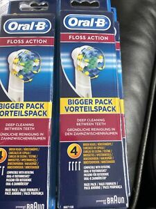 Oral-B FlossAction Electric Toothbrush Replacement Heads Powered by Braun 4 Pack