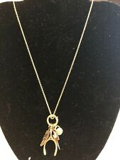 NWT $115 Coach 4 Charm Gold Necklace Extra Long 90830
