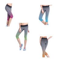 Damen Capri Funktionshose Sporthose Yogahose Fitnesshose Laufhose Größe M L NEU