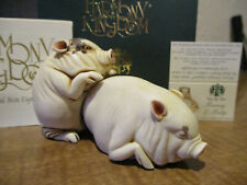 Harmony Kingdom Two by Two Barney & Betty Pigs Uk Made Figurines