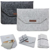 For Apple Mac Air MacBook Pro 11/12/13/15 Laptop Wool Felt Sleeve Case Cover Bag