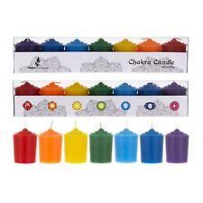 Mega Candles - Unscented 15 Hours Chakra Votive Candles - Set of 7 Cga167-Asst