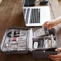 Travel USB Cable Charger Storage Bag Portable Mobile Data Organizer Case Pouch