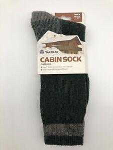 Yaktrax Men's Outfoor Cabin Crew Socks - Pineneedle