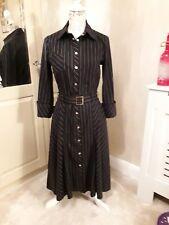 Ladies Karen Millen Black Shirt Dress Size 12 Immaculate