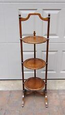 ANTIQUE FRENCH WALNUT 3 TIER TILT STAND,SERVING FOLDING COFFEE TABLE