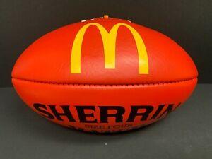 AFL SHERRIN MATCH RED Size 4 LEATHER FOOTBALL McDonalds Maccas MCG MCC