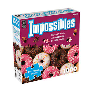 New - BePuzzled Impossibles Puzzle - Yes, Please... Donuts: 1000 Pcs - Ages 12+