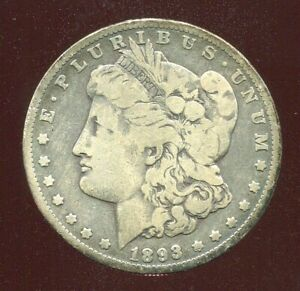 1893 O MORGAN SILVER DOLLAR $1 key date LOW MINTAGE