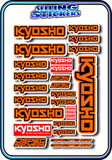 KYOSHO MODEL RC CAR DRONE BOAT BUGGY MINI Z STICKERS DECALS ROBOT R/C ORANGE B