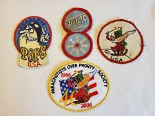 Lot of Vtg POPS Parachutists Over Phorty Skydiving Patches Patch