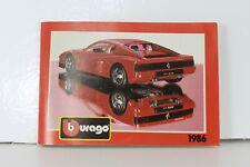 Burago 1986 Catalogue Catalog Katalog Catalogo