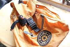 Vintage Kipling Orange Drawstring Back Pack - Includes original Sven