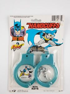 1988 DC Comics - Henry Gordy - BATMAN HANDCUFFS with keys