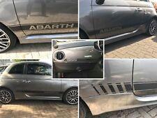 Fiat 595/500 Abarth de fibra de carbono Rayas Laterales & Dash Calcomanías Pegatinas Sin Cortes