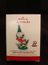 Hallmark Keepsake Ornament 2014 New Year's Celebration Happiness is Peanuts NIB