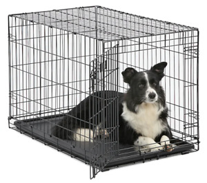 Midwest iCrate Single Door Folding Dog Crate FREESHIPPING