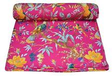 5 Yard Indian Black Bird Print Hand Block Print Cotton Fabric Dressmaking Sewing