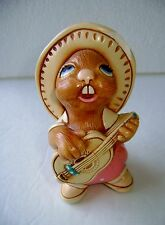 Vintage Pendelfin Rocky Rabbit Figure, Cute! Made In England ~ Hand Painted A5