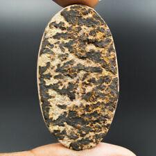 Natural Psilomelane Dendrite Fancy Shape Cabochon Gemstone For Making Jewelry 66.5 Ct 39X30X7 MM SU1021