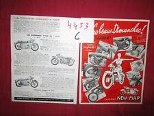 N°4453C /  NEW-MAP : prospectus gamme des motos LEADER 2 temps et 4 temps