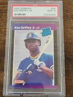 1989 Donruss #33 Ken Griffey Jr. Rated Rookie PSA 9 HOT 🔥🔥