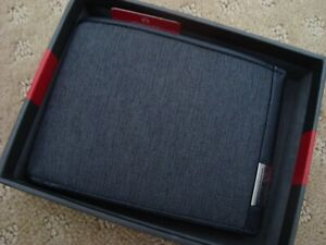 Tumi Alpha SLG Double Bifold Mens Wallet RFID Dark Grey NWT