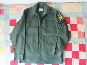 C.C. Filson USFS Uniform US Forest Service Jacket Mens sz 42 Vintage 1980s READ