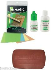 McDermott Shaft Maintenance Kit - McMagic, Ultra-Glide, Cleaner & Leather Pad