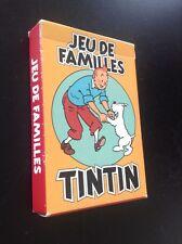 Jeu de cartes des familles Tintin 1993 TTBE