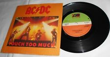 AC/DC Touch to Much 1980 Original 1st A Run A1 B1 NM Stunner Live Wire Shot Down