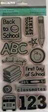 TPC Rubber Cling Stamps I LOVE SCHOOL ABC FIRST DAY