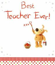 Boofle Best Teacher Ever Greeting Card Official Boofle Thank You Cards New