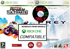 2X XBOX 360 Games Burnout Paradise: The Ultimate Box & PREY (XBOX One Comp)