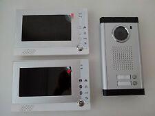 zwei Familien Sprechanlage mit 2 Monitor Kamera 2 Knopf Fotoaufnahme