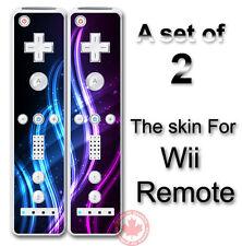 Neon Blue Purple Arts SKIN COVER STICKER for Wii Remote