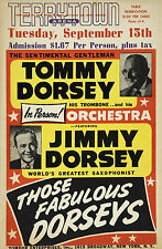 """Tommy and Jimmy Dorsey Terrytoon 16"""" x 12"""" Photo Repro Concert Poster"""