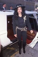 35mm Color Slide Film Celebrity Photograph of Latoya Jackson~163
