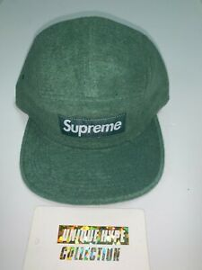 [PREOWNED] SUPREME TERRY FITTED BOX LOGO CAMP CAP HAT S/M GREEN