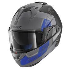 Shark Evo One 2 Motorcycle Motorbike Flip Front Modular Helmet Slasher ABK- Blue