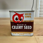 Vintage 1948 Red Owl MN Spice Tin Whole Celery Seed 1.25 oz Tin Can Partial