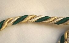 Cording  Three Colors:  Green/Gold/Cream  Wrapped Sewing Trim Upholstery   19 Yd
