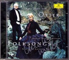 Anne Sofie VON OTTER Signed FOLKSONGS Dvorak Kodaly Britten Grainger Larsson CD