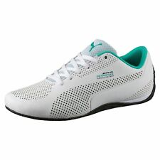 NEW* MENS PUMA MERCEDES AMG CAT 5 ULTRA LEATHER SHOES WHITE TEAL BLACK 305978 01